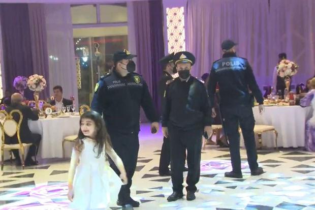 Polis toylarla bağlı monitorinqin görüntülərini yaydı - FOTO/VİDEO